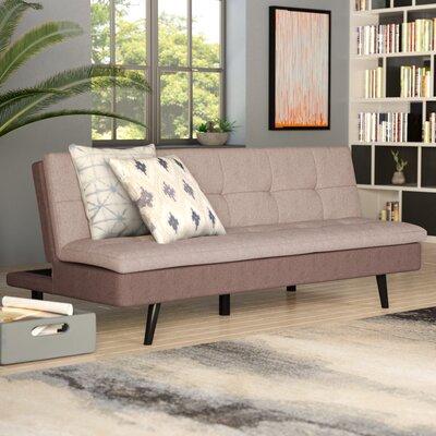 Citrana Click Clack Convertible Sofa Upholstery: Light Brown