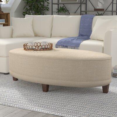 Sandro Oval Ottoman Upholstery: Studio Natural