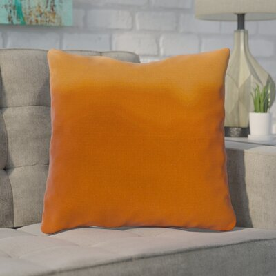 Blecha Ombre Cotton Throw Pillow Size: 22, Color: Orange, Filler: Down