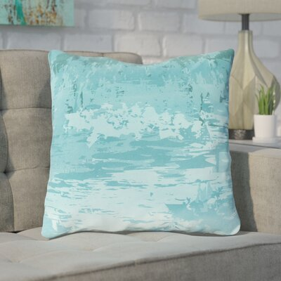 Eley Watercolor Cotton Throw Pillow Size: 22 H x 22 W x 4 D, Color: Teal