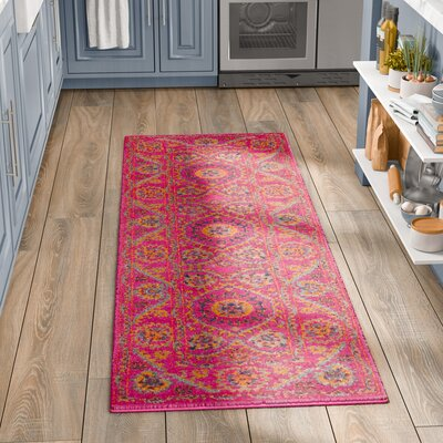 Blackwell Fuchsia Cotton Area Rug Rug Size: Runner 27 x 8