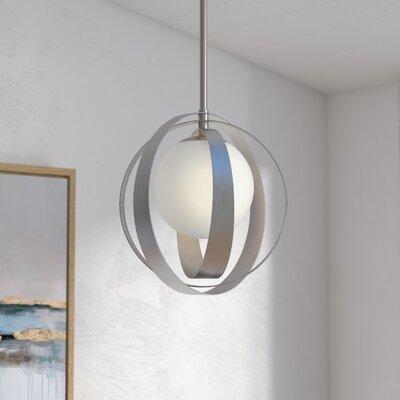 Bacher 1-Light Geometric Pendant Finish: Antique Silver