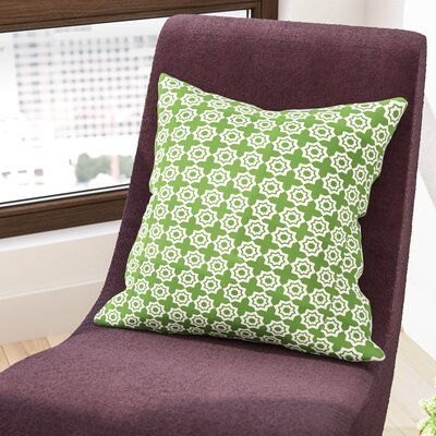 Moroccan Mirage Throw Pillow Color: Green, Size: 18 H x 18 W