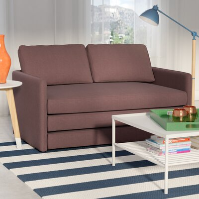 Earl Reversible Sleeper Loveseat Upholstery: Brown