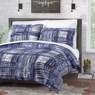Macy Comforter Set Size: King, Color: Blue