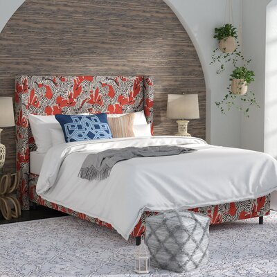 Faya Linen Upholstered Panel Bed Size: Queen