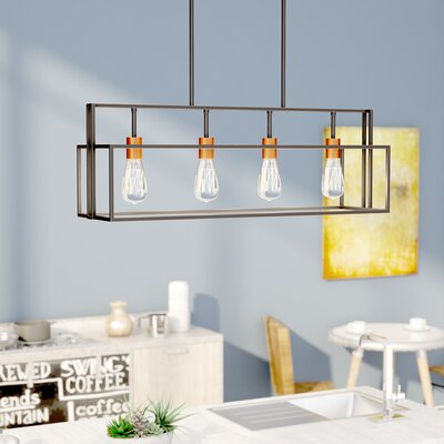 Jefferson 4-Light Kitchen Island Pendant Finish: Bronze/Copper