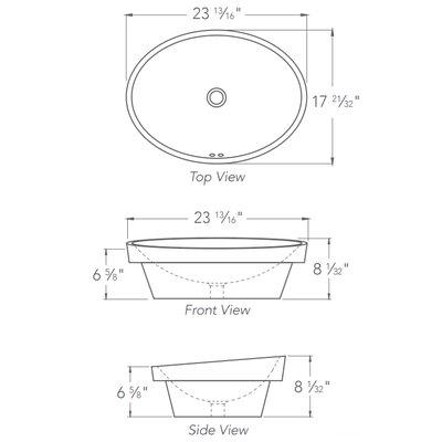 Classic Oval Semi-Recessed Self Rimming Bathroom Sink