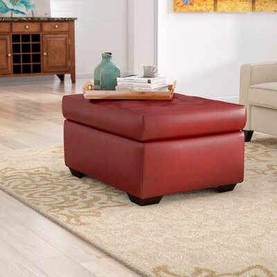 Simmons Fort Gibson Cocktail Ottoman Upholstery: Cardinal