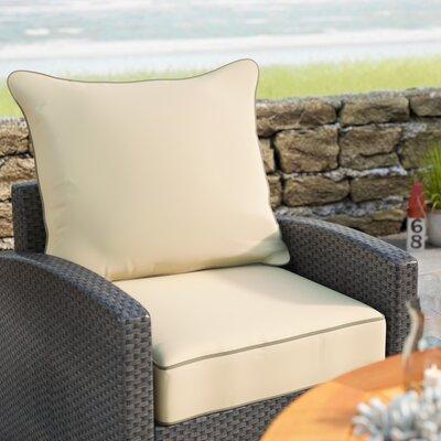 Sunbrella Dining Chair Cushion Fabric: Antique Beige