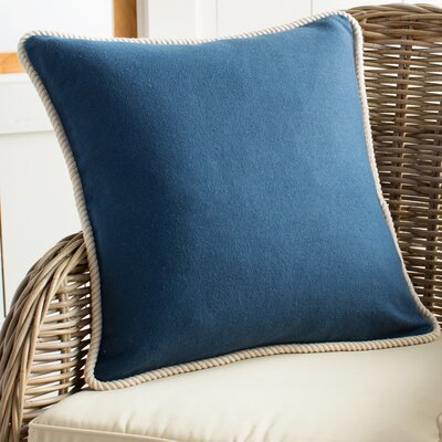 Rope Border Pillow Cover Color: Blue