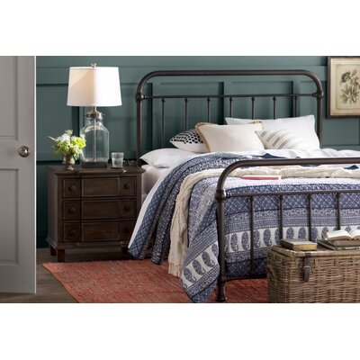 Harlow Panel Bed Size: Full, Color: Dark Bronze