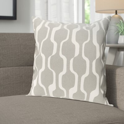Arsdale Contemporary Cotton Throw Pillow Cover Color: Gray/ White