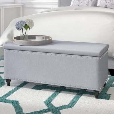 Hollins Storage Ottoman Upholstery: Light Gray
