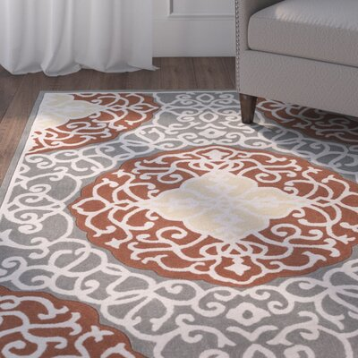 Windsor Hand-Tufted Camel/Gray Area Rug Rug Size: Rectangle 2 x 3