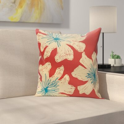 Arkwright Floral Throw Pillow Size: 18 H x 18 W, Color: Buddha / Ginger / Teal