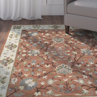 Moorcroft Brick Area Rug Rug Size: Rectangle 76 x 9
