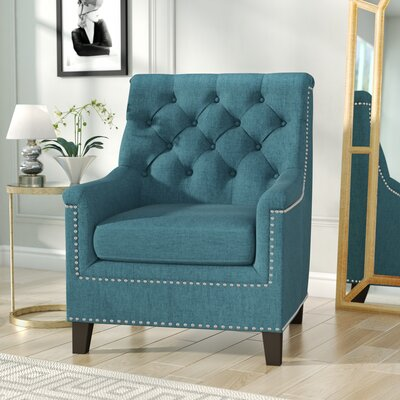 Highbury Fabric Armchair Upholstery: Dark Teal