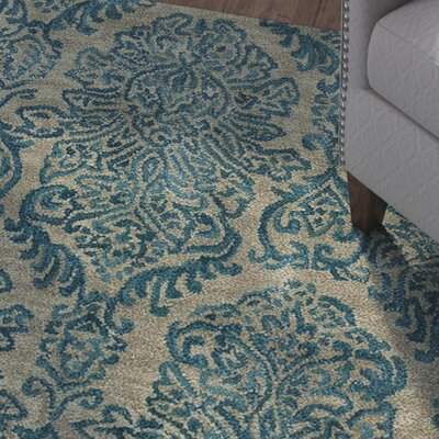 Allenport Hand-Tufted Blue Area Rug Rug Size: 76 x 96