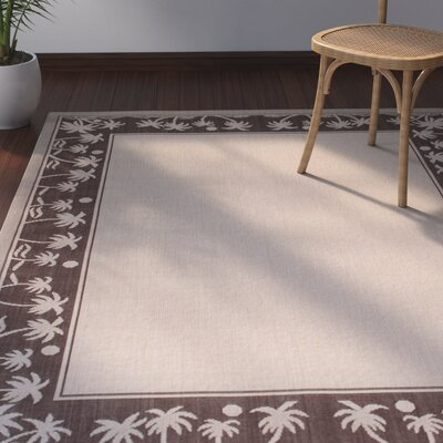 Granada All Weather Indoor/Outdoor Beige Area Rug Rug Size: 5 x 7