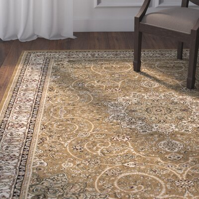 Arquette Beige Area Rug Rug Size: 67 x 93