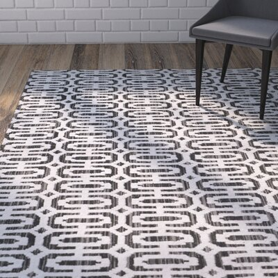 Agee Mirage Hand Woven Charcoal Area Rug Rug Size: Rectangle 6 x 9