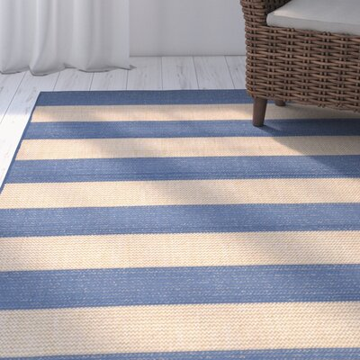 Kensa Blue/Beige Indoor/Outdoor Area Rug Rug Size: Runner 111 x 76