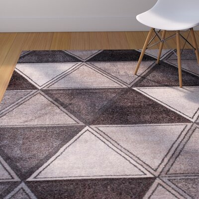 Kristopher Gray/Burgundy Area Rug