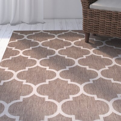 Kerensa�Mocha Indoor/Outdoor Area Rug Rug Size: 5 x 7