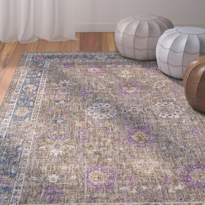Fonteyne Brown/Blue Area Rug Rug Size: 53 x 76