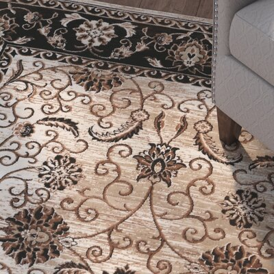 Bluff Canyon Beige/Black Area Rug Rug Size: 2 x 10