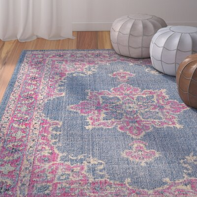 Randhir Blue/Pink Area Rug Rug Size: Rectangle 710 x 103