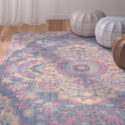 Randhir Blue/Tan Area Rug Rug Size: Rectangle 710 x 103