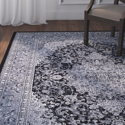 Arison Charcoal Area Rug Rug Size: 67 x 93
