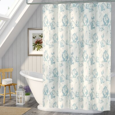 Patton Cotton Shower Curtain Color: Blue