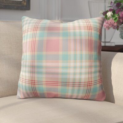 Belliere Plaid Indoor/Outdoor Throw Pillow Size: 26 H x 26 W x 4 D