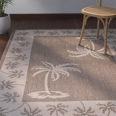 Granada Mocha Indoor/Outdoor Area Rug Rug Size: 5 x 7