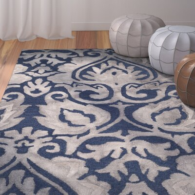 Brennan Hand-Tufted Wool Navy Area Rug Rug Size: Rectangle 3 x 5