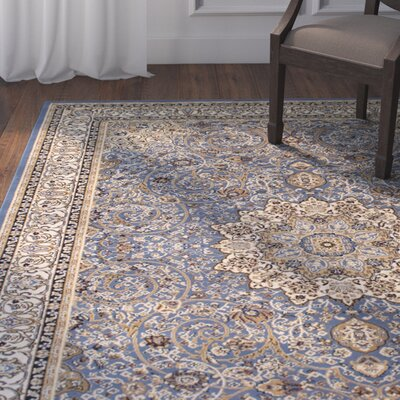 Arison High-End Ultra-Dense Blue Area Rug Rug Size: 89 x 115