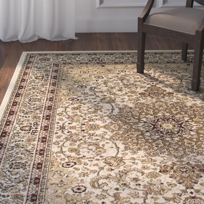 Arison High-End Ultra-Dense Ivory Area Rug Rug Size: 53 x 75