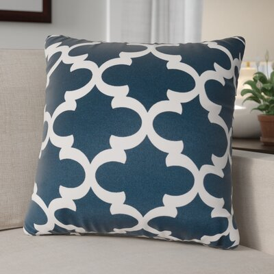 Cashwell Indoor/Outdoor Throw Pillow Color: Navy, Size: Large