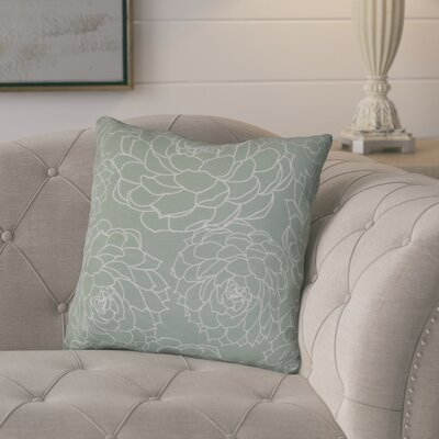 Neville Print Throw Pillow Size: 26 H x 26 W x 3 D, Color: Green