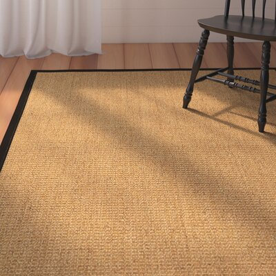 Belves Natural Fiber Sisal Hand-Woven Beige Area Rug Rug Size: Rectangle 8 x 10