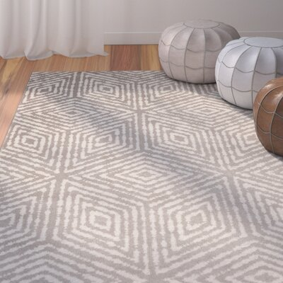 Durant Cubes Gray/Ivory Area Rug Rug Size: 710 x 910