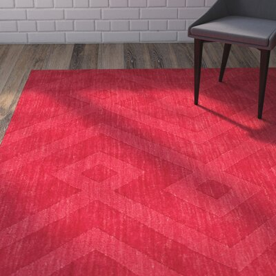 Given Ultra-Soft High-Quality Wool Red Area Rug Rug Size: 711 x 911