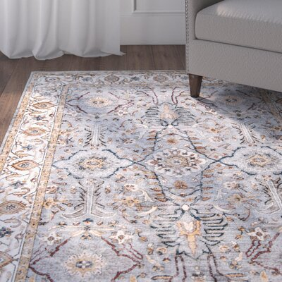 Burnley Blue Area Rug Rug Size: 33 x 51