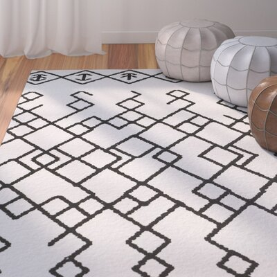 Owen Hand-Loomed Cotton Ivory Area Rug Rug Size: Square 6