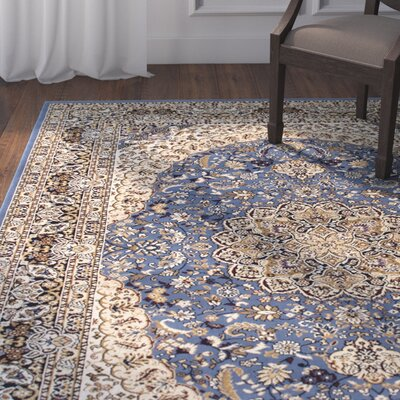 Arison High-End Ultra-Dense Woven Blue Area Rug Rug Size: 53 x 75