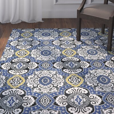 Albin Indigo Area Rug Rug Size: Rectangle 22 x 4
