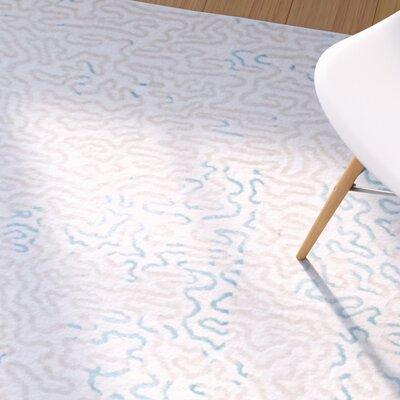 Clinton Densely-Woven Cream/Turquoise Area Rug